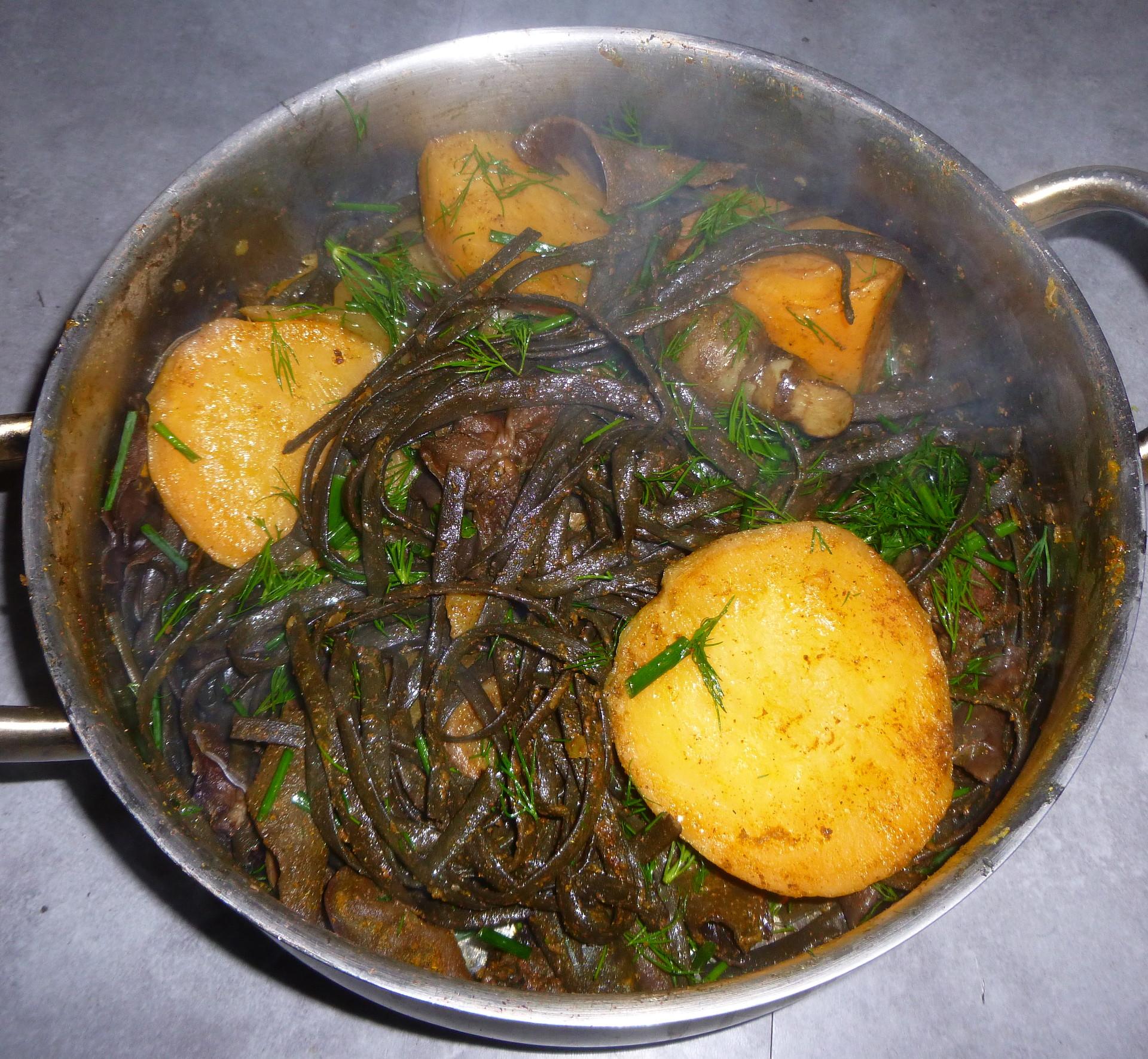 Haricots de mer (algues) avec rutabaga