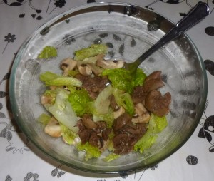 Rognons de bœuf en salade