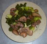 Recette - Rognons avec légumes verts