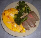 Blettes aux œufs et au bœuf