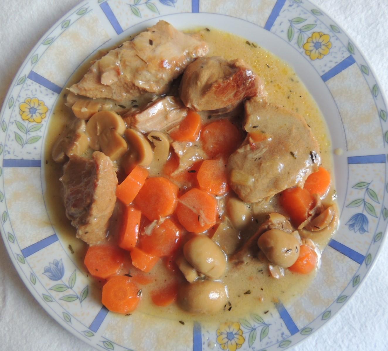 Recette minceur - Blanquette de veau aux champignons