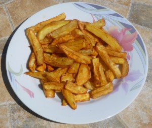 Frites de patates douces jaunes