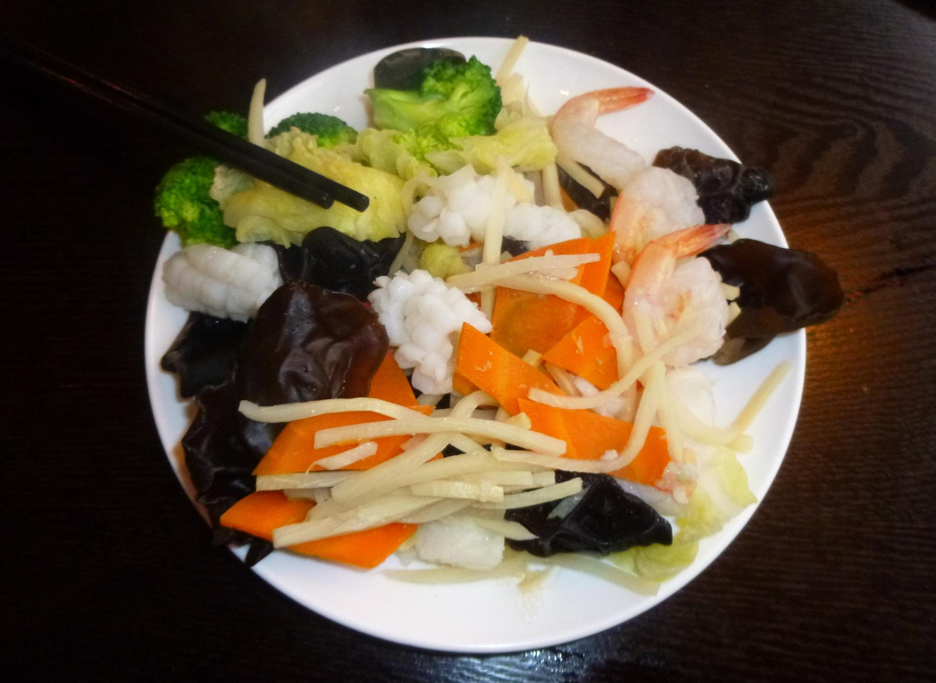 Recette asiatique - Calamar aux légumes asiatiques