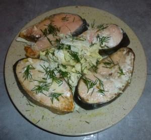 Saumon au chou chinoisc