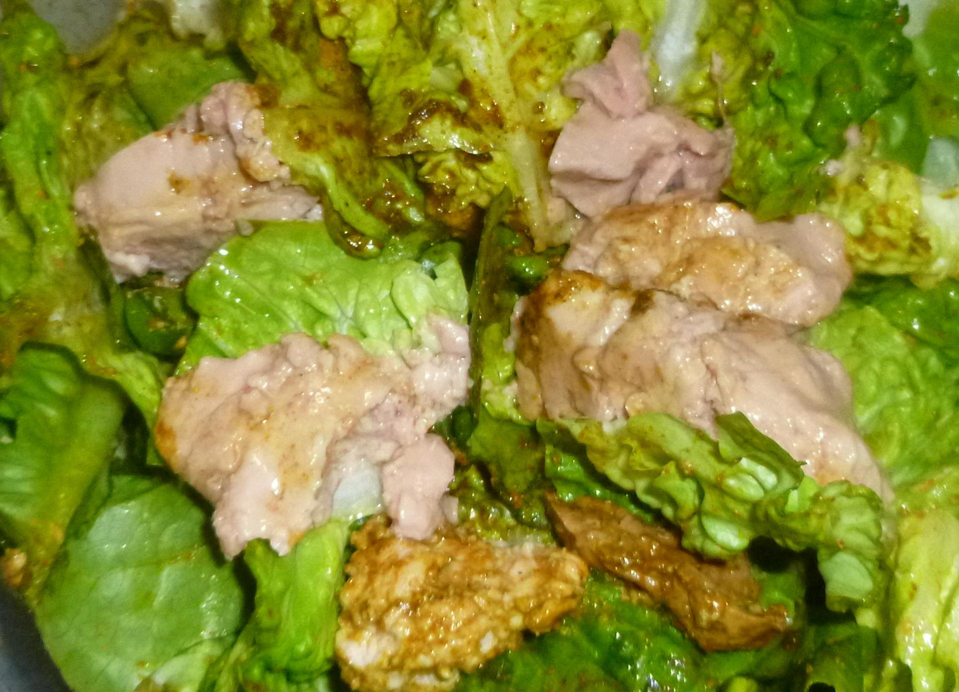 Salade de foie de morue au curry