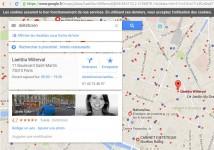 Les organisations notées sur google maps